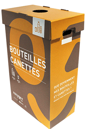 Contenant Ecobox               Bouteilles-canettes de Recygo